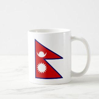 Nepal High quality Flag Basic White Mug