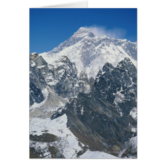 Nepal, Himalayas, view of Mt Everest from Gokyo Card
