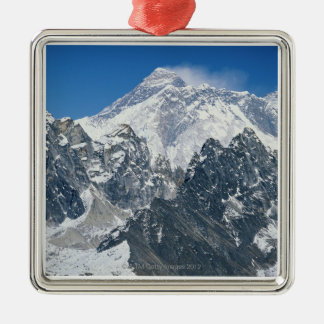 Nepal, Himalayas, view of Mt Everest from Gokyo Christmas Ornament