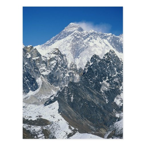Nepal, Himalayas, view of Mt Everest from Gokyo Post Card