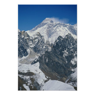Nepal Himalayas view of Mt Everest from Gokyo Print