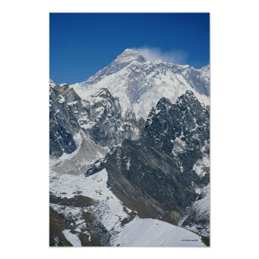 Nepal, Himalayas, view of Mt Everest from Gokyo Print
