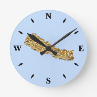 Nepal Map Clock