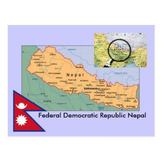 Nepal Map Postcard