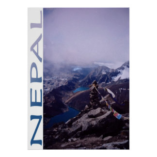 Nepal Mountain Scene Poster