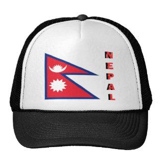 Nepal nepalese flag souvenir hat