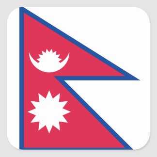 Nepal/Nepalese Flag Square Sticker