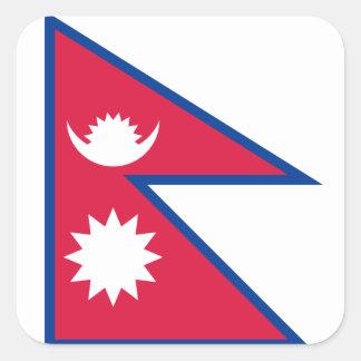 Nepal/Nepalese Flag Square Sticker