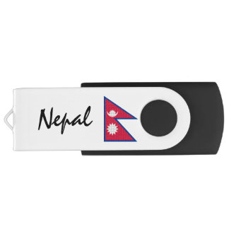 Nepal Nepalese Flag USB Flash Drive