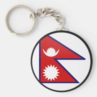 Nepal quality Flag Circle Basic Round Button Key Ring
