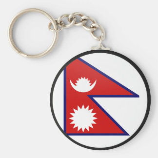 Nepal quality Flag Circle Key Ring