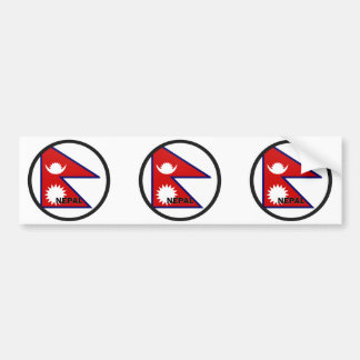 Nepal Roundel quality Flag Bumper Sticker