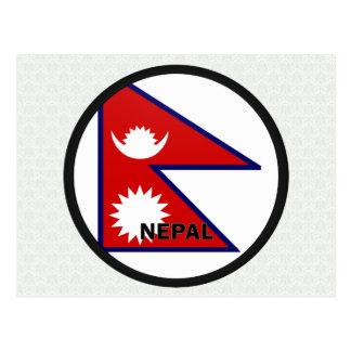 Nepal Roundel quality Flag Postcard