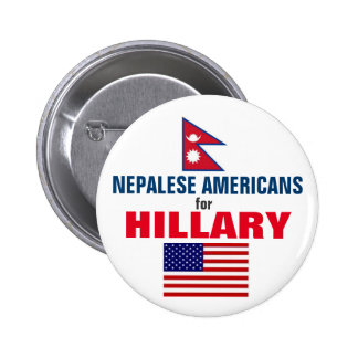 Nepalese Americans for Hillary 2016 6 Cm Round Badge