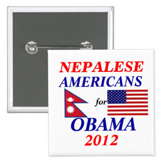 nepalese americans for Obama Pinback Button