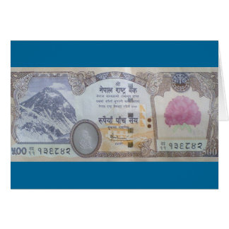 Nepalese Banknote Greeting Card