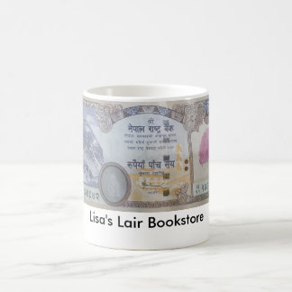 Nepalese Banknote Wraparound Bookstore Promo Basic White Mug