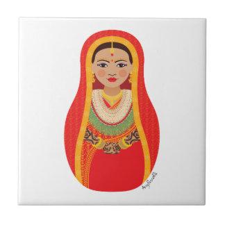 Nepalese Bride Matryoshka Tile