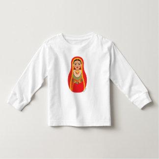 Nepalese Bride Matryoshka Toddler Long Sleeve T-shirt