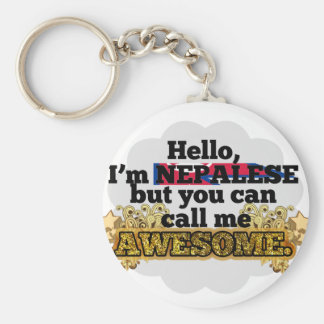 Nepalese, but call me Awesome Basic Round Button Key Ring