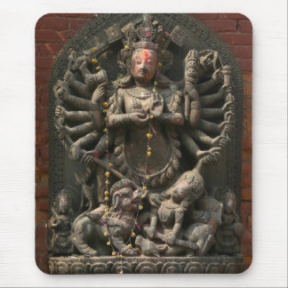 Nepalese Carved Wood God Mousepad