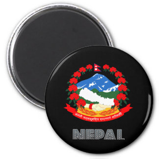 Nepalese Emblem 6 Cm Round Magnet