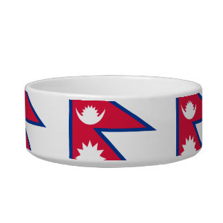 Nepalese Flag Cat Water Bowls