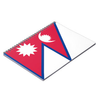 Nepalese Flag Spiral Note Book
