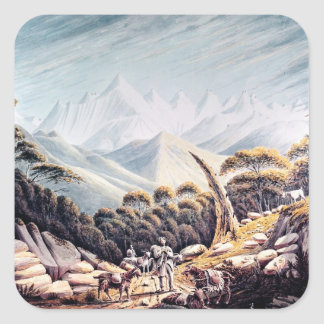 Nepalese Herdsmen in the Himalayas, 1826 Square Sticker
