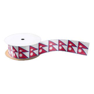 Nepali (Nepalese) flag ribbon Satin Ribbon