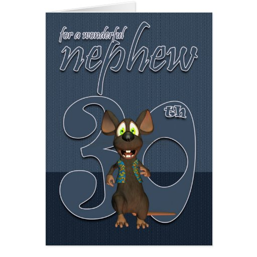 Nephew - 30th Birthday Card Mouse