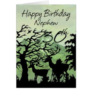 Nephew - 30th Birthday Card Woodland