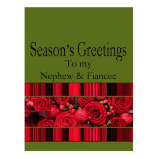 nephew and fiancee   Merry Christmas card Postcard