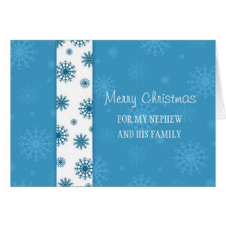 Nephew and his Family Merry Christmas Card