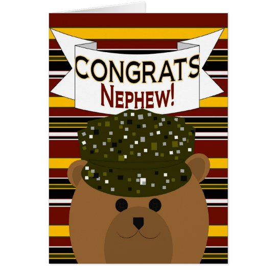 Nephew - Army Soldier Congrats! Card