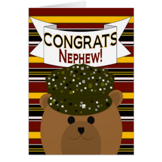 Nephew - Army Soldier Congrats! Greeting Card