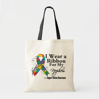 Nephew - Autism Ribbon Budget Tote Bag