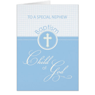 Nephew Baptism Congratulations Blue Child of God Card
