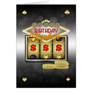 Nephew Birthday Greeting Card With Slots And Coins