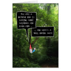 Nephew Birthday, Humourous Gnome in Forest Card