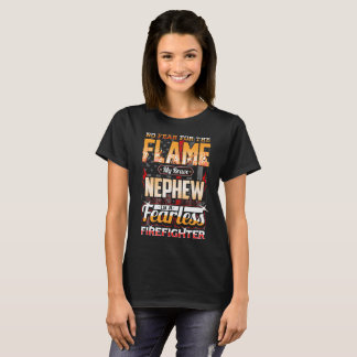 Nephew Firefighter American Flag T-Shirt