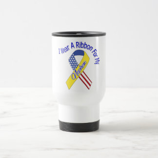 Nephew - I Wear A Ribbon Military Patriotic Travel Mug