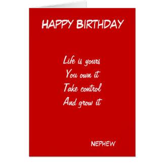 Nephew motivational birthday greeting cards