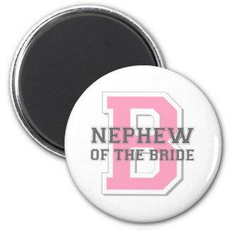 Nephew of the Bride Cheer 6 Cm Round Magnet
