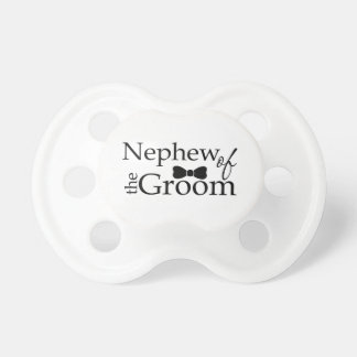 Nephew of the Groom Black Bow Tie Pacifier