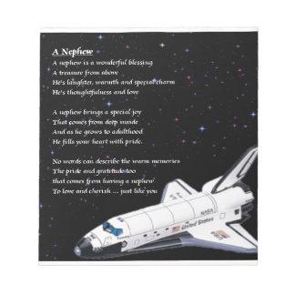 Nephew Poem - space Notepad
