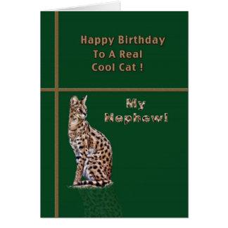 Nephew's Birthday Card with Ocelot