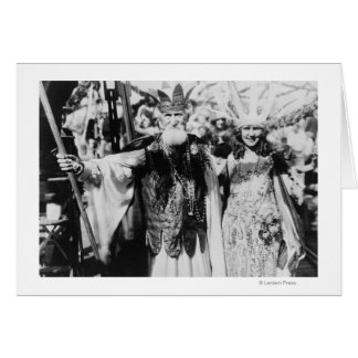 Neptune and Miss America at Carnival Photograph Card
