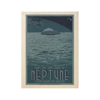 Neptune Art Deco Space Travel Poster