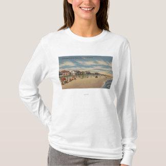 Neptune Beach, FL - View of Ocean Front Homes T-Shirt
